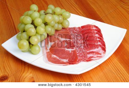 Sliced Meat Products With Grape