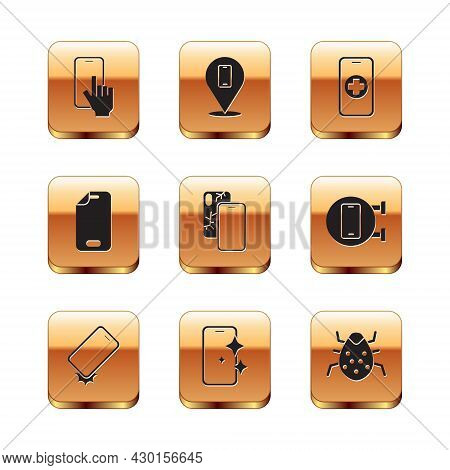Set Phone Repair Service, Shockproof Phone, Glass Screen Protector, Mobile With Broken, System Bug A