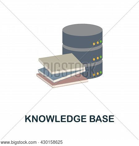 Knowledge Base Flat Icon. Colored Sign From Customer Service Collection. Creative Knowledge Base Ico