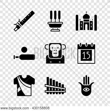 Set Bamboo Flute Indian, Incense Sticks, Taj Mahal, Indian Man Dress, Pan, Hamsa Hand, Wood Cricket
