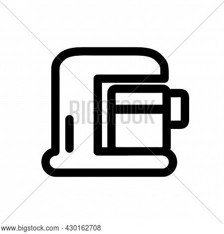 Coffee Maker Machine Vector Icon. Coffee Maker Machine Line Icon.
