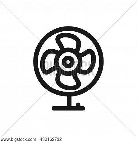 Fan Isolated Vector Icon. Fan Line Icon.