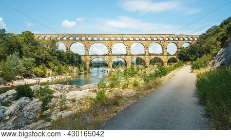 An image of the Pont du Gard in France