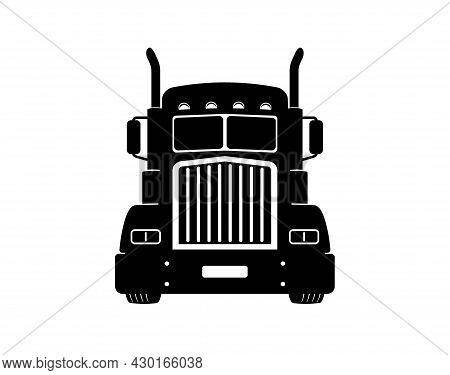 Semi Truck. Vector Lorry. Freight Transportation. Flat Vector Illustration. American Truck. Semi Tru