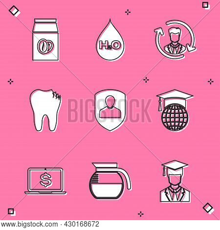 Set Coffee Beans In Bag, Water Drop With H2o, Human Resources, Broken Tooth, User Protection And Gra