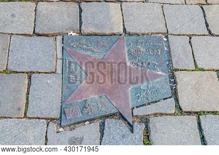 Opole, Poland - June 4, 2021: Star Of Alibabki Band At Walk Of Fame In Opole Known As Aleja Gwiazd F