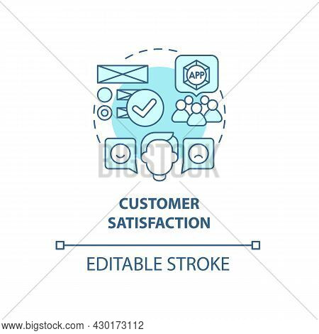 Customer Satisfaction Concept Icon. Product Usage Abstract Idea Thin Line Illustration. Improving Co
