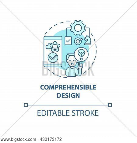 Comprehensible Design Concept Icon. Product Usage Abstract Idea Thin Line Illustration. Maintain Cla