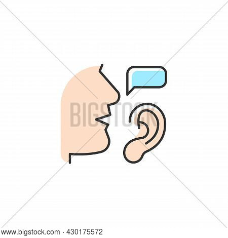 Active Listening Rgb Color Icon. Attentive Listener. Building Trustful Relationships. Showing Unders