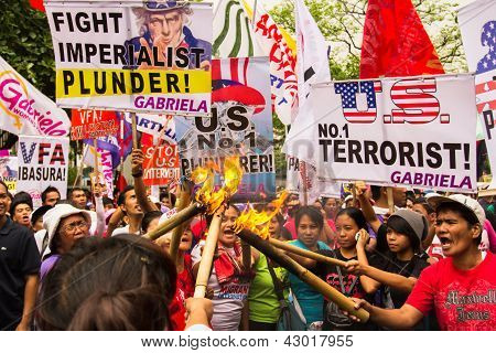 International Women's Day protest in Manila