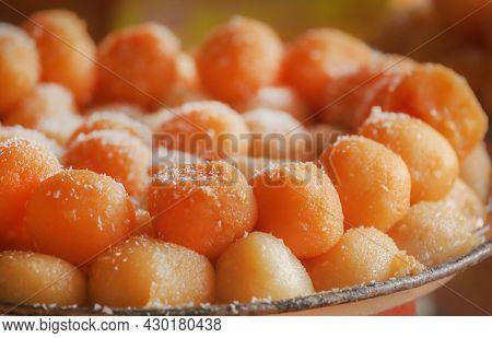 Close Up Popular Bangladeshi Sweetmeats As Streetfood