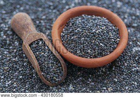 Organic Chia Seed A Super Food Close Up