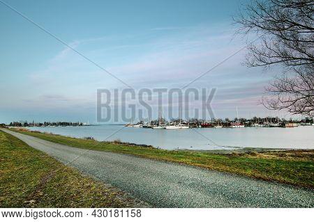 Ishoj Harbor Denmark At Late Afternoon Natural