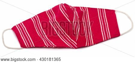 Face Mask Made Of Cloth Over White Background