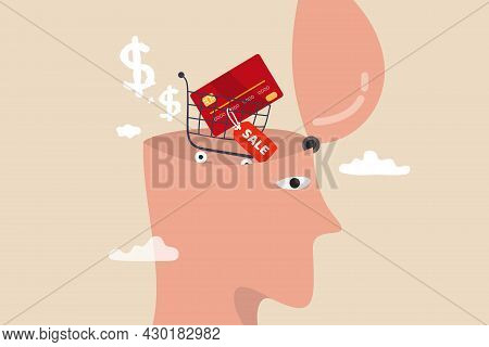 Consumerism, Wanting Mind Or Desire To Buy And Purchasing More, Buying Therapy Or Shopping Addiction