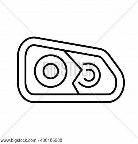 Broken Headlight Car Icon. Cracked Glass Automobile. Type Accident With Auto. Vector Illustration. E