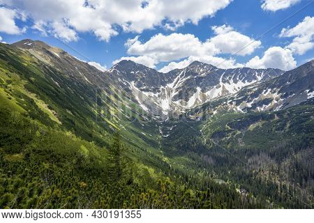 Slovak Western Tatras. View Of The Rohace Peaks.