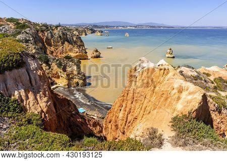 Landscape With Cliffs And Bays Of Ponta Da Piedade, Lagos, Algarve, Portugal