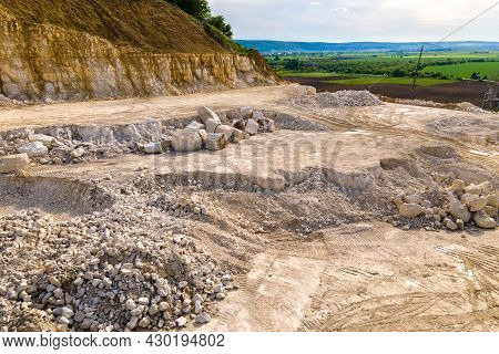 Open Pit Mining Of Construction Sand Stone Materials.