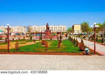 Nukus, Uzbekistan - April 14, 2021: Ajiniyaz Or Azhiniyaz Monument In Nukus City, Karakalpakstan Reg