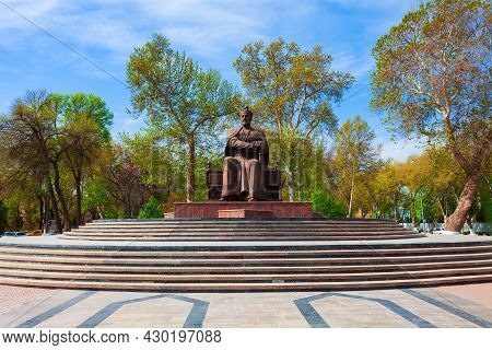 Samarkand, Uzbekistan - April 17, 2021: Amir Timur Or Tamerlane Monument In Samarkand City, Uzbekist