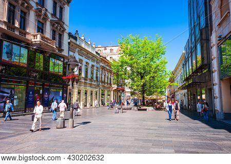 Belgrade, Serbia - May 15, 2013: Knez Mihailova Street Or Kneza Mihaila Or Prince Michael Street Is