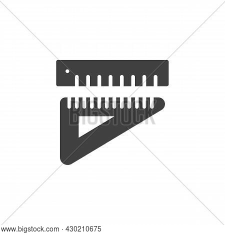 Rulers Vector Icon. Filled Flat Sign For Mobile Concept And Web Design. Measurement And Triangle Rul