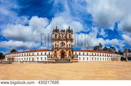 Alcobaca Monastery Or Mosteiro De Santa Maria De Alcobaca Is A Roman Catholic Complex Located In Alc