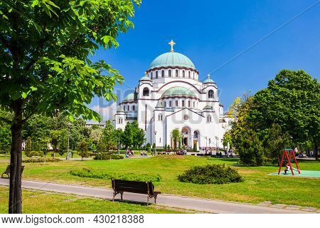 The Church Of Saint Sava Cathedral Or Hram Svetog Save Is A Serbian Orthodox Church In Belgrade City