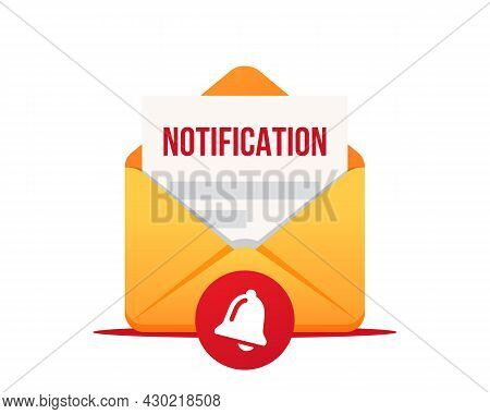 Email Notification, Vector Icon. Notification Of A New Email. New Email Message