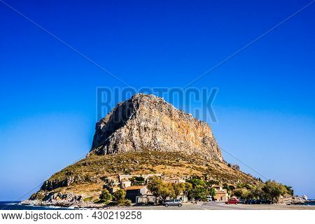 Panorama Of Old Hill Of Byzantine Town Monemvasia