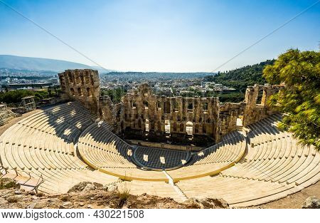 Theatre Of Dionysus Below The Acropolis In Athens, Greece