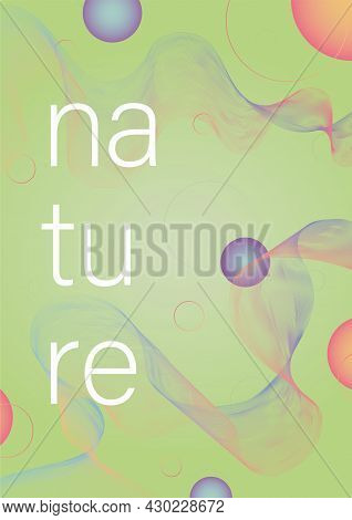 Poster With 3d Effect - Blending. Nature And Ecology. Bright Modern Vector Design For Background.
