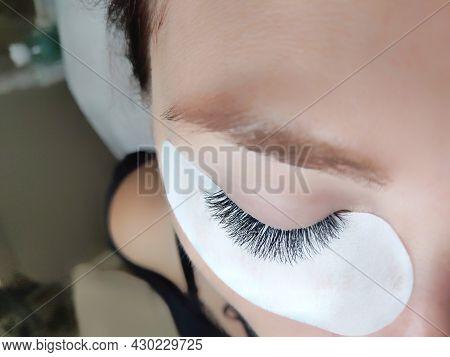Lash Extensions In Beauty Salon Macro Eye
