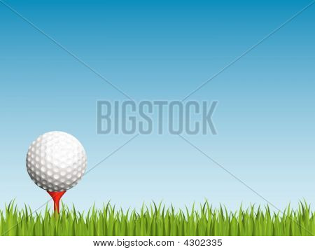Golf Ball With Seamless Grass