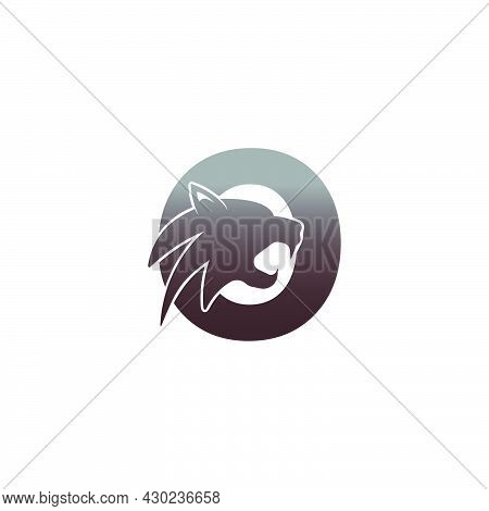 Letter O With Panther Head Icon Logo Vector Template