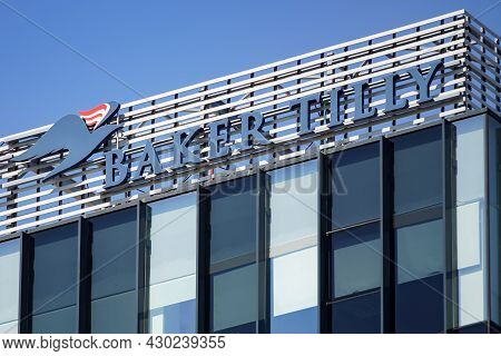 Bucharest, Romania - August 16, 2021: The Logo Of The Baker Tilly Romania, International Accountancy