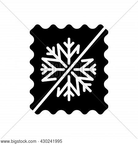 Thermal Underwear Glyph Icon. Snowproof Material. Weather Protection. Thermal Insulated Fabric Featu