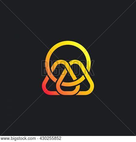 Letter Mo Gradient 3d Overlapping Line Logo Vector