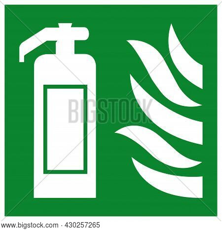 Fire Extinguisher Symbol Sign, Vector Illustration, Isolate On White Background Label. Eps10