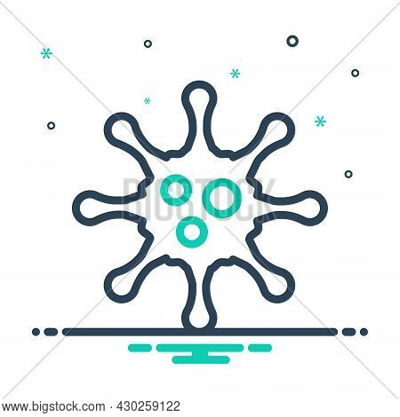 Mix Icon For Virus Ailment Disease Germ Illness Infection Microbe Microorganism Pathogen