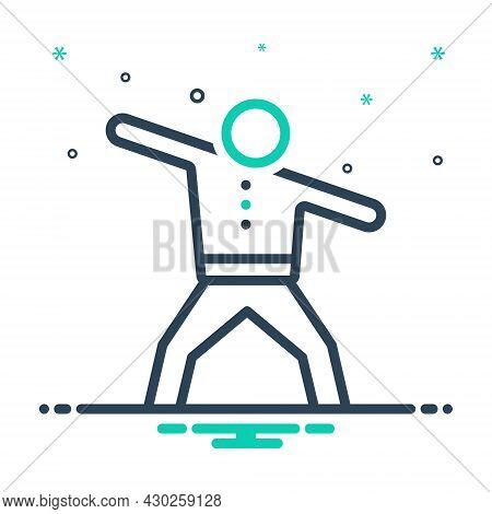 Mix Icon For Active Exercise Energetic Athlete Champion Competition Fitness Health