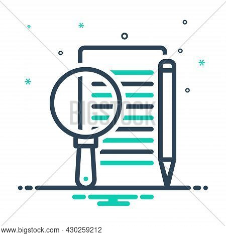 Mix Icon For Define Elucidate Interpret Describe Edit Paper Document