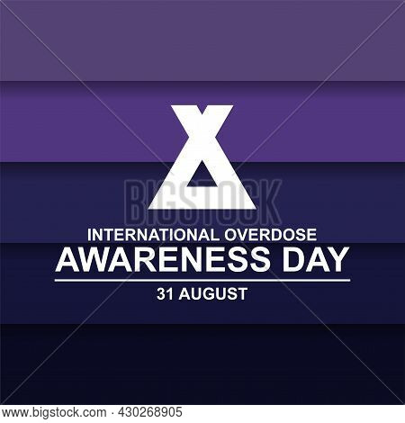 International Overdose Awareness Day Paper Cut Background Vector. Vector Illustration For Web And Pr