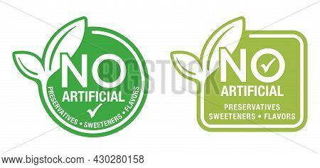 No Artificial Preservatives, Sweeteners And Flavours - Single Sticker For Healthy Products Compositi