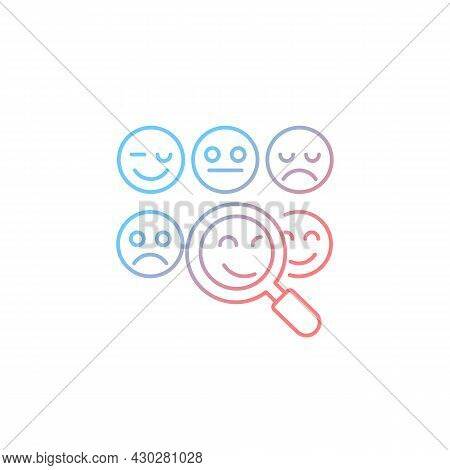 Reading Emotions Gradient Linear Vector Icon. Face-to-face Communication. Non-verbal Cues. Emotional