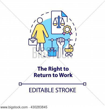 Right To Return To Work Concept Icon. Job Returning Abstract Idea Thin Line Illustration. Go Back To