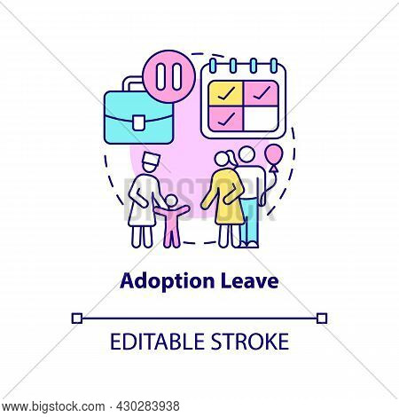Adoption Leave Concept Icon. Parental Rights And Allowance Abstract Idea Thin Line Illustration. Sta