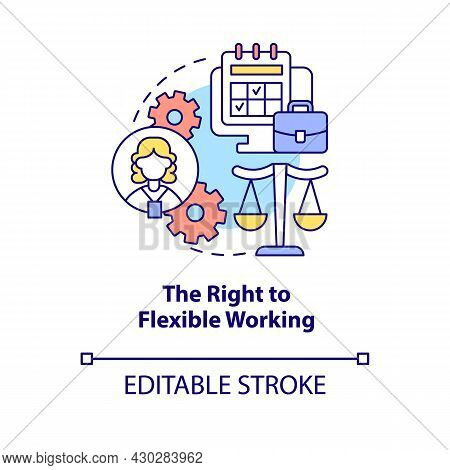 Right To Flexible Working Concept Icon. Return To Work After Parental Leave Abstract Idea Thin Line