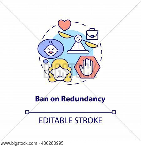 Ban On Redundancy Concept Icon. Dismissal After Maternity Leave Abstract Idea Thin Line Illustration